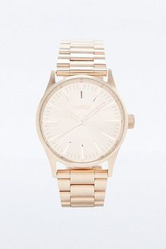 Nixon Sentry Rose Gold Watch