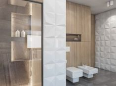 Bagua » Projekty Downstairs Bathroom, Small Bathroom, Interior Design Classes, Bathroom Toilets, Tile Design, Bathroom Inspiration, Bathroom Interior, Bathroom Lighting, Tall Cabinet Storage
