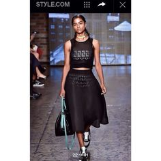 #PitchBlack #PitchblackPersonage #PitchBlackPose #Black #Vashtie #DKNY #Styledotcom | Walked my very first catwalk today and although I was trembling with fear...I did it! Special thanks to @DKNY for the opportunity and my junior high bullies...just because @styledotcom