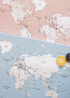 Small Push Pin Travel Maps: A Minimalistic Choice to Track Your Travels   Trip Map