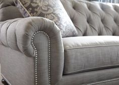 Chadwick Sofa in grey upholstery - Ethan Allen...always remember you get what you pay for. American-made