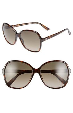Free shipping and returns on Gucci 58mm Oversize Sunglasses at Nordstrom.com. Oversized gradient lenses are balanced by a trim frame and slender arm on these sophisticated sunglasses with subtle branding at the temples.