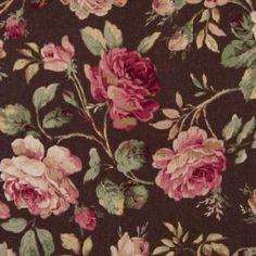 Látka Cosmo - ROld Roses hnědé | VeseláJehlička.cz Old Rose, Cosmos, Wonderland, Weaving, Painting, Design, Art, Scrappy Quilts, Art Background