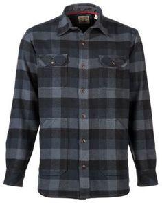 RedHead Workhorse Brawny Plain Weave Twill Shirt for Men - Navy/Black Buffalo - XL