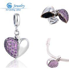 2016 New Fashion Heart Charm Genuine 925 Sterling Silver Jewelry Brand Bracelets brazalet argent 925 GW Fine Jewelry S050H10