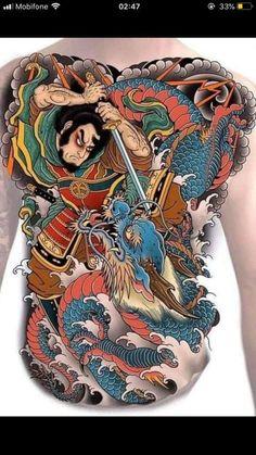 Japanese Geisha Tattoo, Japanese Koi Fish Tattoo, Japanese Snake Tattoo, Japanese Tattoo Designs, Japanese Sleeve Tattoos, Dragon Tattoo Art, Japan Tattoo Design, Hanya Tattoo, Back Piece Tattoo