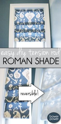 Here's an easy tutorial how to make your own roman shade. It's SO EASY anyone can do it! Here's an easy tutorial how to make your own roman shade. It's SO EASY anyone can do it! Diy Curtains, Kitchen Curtains, Kitchen Window Coverings, Bedroom Curtains, Diy Bedroom, Gypsy Curtains, Sewing Curtains, Roman Curtains, Kitchen Blinds