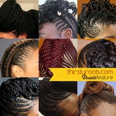 Braids, Hair Growth and Length Retention | thirstyroots.com: Black ...