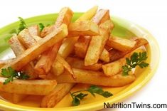 Crispy Homemade Fries | Less than 95 calories and ONLY 2 grams of Fat |  Yummy fries that are actually healthy too! | NutritionTwins.com