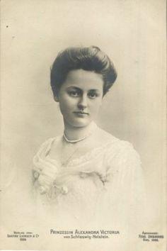 Prinzessin Alexandra Victoria Von Schleswig Holstein 1887 1957 Germany RPPC 1906   eBay