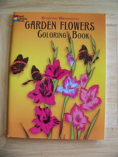 Garden Flowers Coloring Book Coloring Books, My Favorite Things, Garden, Flowers, Crafts, Products, Vintage Coloring Books, Garten, Manualidades