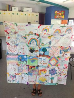 Create a colourful and fun patchwork wall hanging. A great idea for the classroom and home. Ribbons, Community, Teaching, Create, Wall, Fun, Photos, Color, Scrappy Quilts
