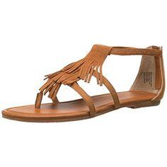 BC Womens Maltese II Suede Fringe Gladiator Sandals