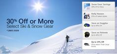 Great Deal!!! 30% OFF or More on Ski and Snow Gear for Winter Olympics Check it now! The winter games are back and winter sports have returned to the world stage. Shop downhill skiing, cross-country skiing, snowboarding, ice hockey, and figure skating for the gear you need to fulfill your own dreams of victory or simply support your team.  hp0