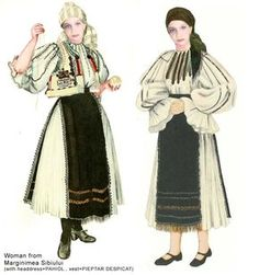 Romania Folk Natioanl Ethnic Popular Costumes of Sibiu Hungarian Embroidery, Folk Embroidery, Learn Embroidery, Embroidery Patterns, Creative Embroidery, Modern Embroidery, Traditional Art, Traditional Outfits, Paper Dolls Clothing