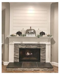 Farmhouse Fireplace Mantels, Fireplace Redo, Shiplap Fireplace, Fireplace Remodel, Modern Fireplace, Living Room With Fireplace, Fireplace Design, Living Room Decor, Fireplace Ideas