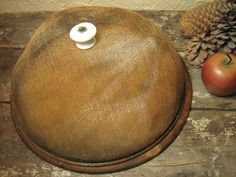 Early Old Antique Large Fly Screen Food Cover and Round Bread Board  #HannahsHouseAntiques  #Primitives  http://www.rubylane.com/item/497177-9231/Early-Antique-Large-Fly-Screen
