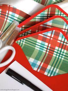 Shopgirl: DIY Lined Christmas Envelopes