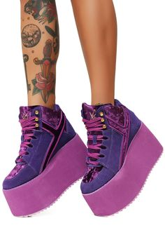 9b4f0f4034 R.U. Violet Qozmo 2 Platform Sneakers you re stompin  on cotton candy