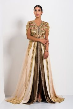 "Kaftan Fes - Collection ""Four Seasons"" Moroccan Kaftan Dress, Caftan Dress, Elegant Dresses For Women, Nice Dresses, Arabic Dress, Gowns Of Elegance, Oriental Fashion, Buy Dress, Traditional Dresses"