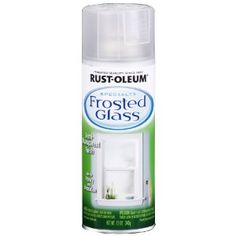 Etching Glass Temporarily ~~ Rust-oleum carries this frosted glass product that comes off with acetone or paint thinner.