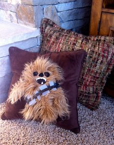 Chewbacca Decorative Throw Pillow - by So So Hippo    Available for $42.50 USD at Etsy.