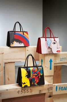 prada handbags at tk maxx Prada Bag, Chanel Handbags, Luxury Handbags, Leather Handbags, Painted Bags, Popular Handbags, Art Bag, Painting Leather, Beautiful Bags