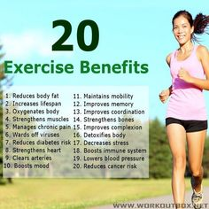 20 Exercise Benefits - Healthy Fitness Workouts Sport Training