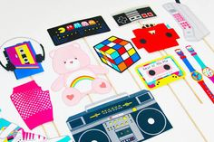 Image result for free 80's party printables