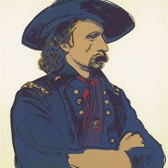 ANDY WARHOL  General Custer, from Cowboys and Indians (F. & S. IIB.379)   S. 36 x 36 in. (914 x 914 mm.)