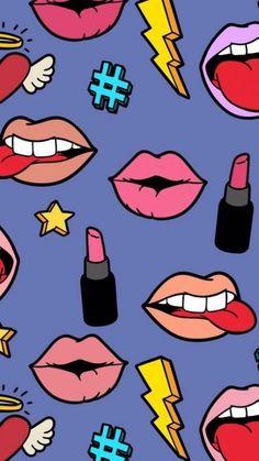 Imagem de background, cosmetics, and hipster iphone wallpape Hipster Wallpaper, Tumblr Wallpaper, Screen Wallpaper, Cool Wallpaper, Pattern Wallpaper, Wallpaper Backgrounds, Iphone Wallpaper, Pop Art, Tumblr Pattern
