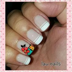 Uñas Cute Nail Art, Cute Nails, Pretty Nails, My Nails, Hello Nails, Crazy Nails, Cute Nail Designs, French Nails, Nail Arts