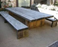 Image result for driftwood picnic tables