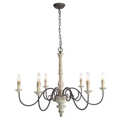 LNC Andromeda Antique White French Country/Cottage LED Chandelier at Lowe's. This French country chandelier is completely handmade with hundreds of procedures involved, giving a luxury presence! This farmhouse chandelier features Shabby Chic Chandelier, French Country Chandelier, Farmhouse Chandelier, Kitchen Chandelier, Candle Chandelier, Chandelier Lighting, White Chandelier, Chandelier Ideas, Kitchen Lighting