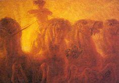 Gaetano Previati Italy) Paintings Gaetano Previati was an Italian Symbolist painter whose work fell into the Divisionist style of Neo-Impressionism. Italy Painting, Love Painting, Italian Painters, Italian Artist, Paul Signac, World Mythology, Roman Mythology, Most Famous Artists, Salon Art