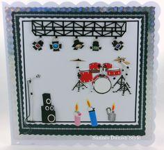 Grußkarte, greeting Card. Konzert. Danish Style, Illustration, Advent Calendar, Etsy, Holiday Decor, Frame, Special Gifts, Recital, Handmade