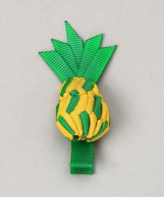 Love this Yellow & Green Pineapple Hair Clip by Too Too Cute on #zulily! #zulilyfinds