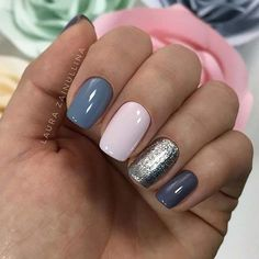 Multi Color Manicure for Elegant Nail Designs for Short Nails