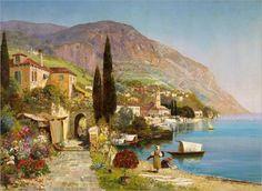 Alois Arnegger_sommertag-an-einem-oberitalienischen-see