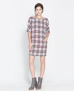 Checked Dress by Zara