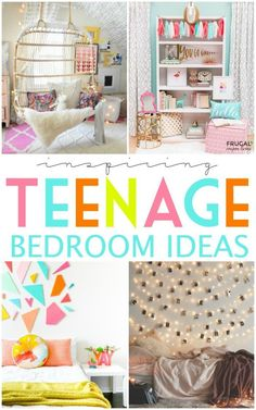Teen Bedroom Ideas - Inspiring Teenage Bedroom Ideas on Frugal Coupon Living. Creative room ideas for your teen to tween to young adult girl. Creative do it yourself (DIY) decor for your tween girl to teenager leaving for home. Teenage Girl Bedroom Designs, Teenage Girl Bedrooms, Kid Bedrooms, Preteen Bedroom, Preteen Girls Rooms, Young Adult Bedroom, Room Girls, Teen Girl Rooms, Decoration Bedroom