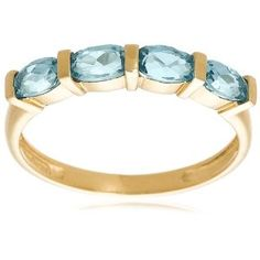 14k 5x3 Oval Blue Topaz Stack Ring, Size 7 (Jewelry)  http://like.best-hometheaters.com/redirector.php?p=B0014A6IOW  B0014A6IOW