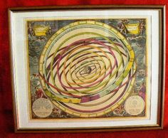 20131 $9999 or best offer - Harmonia Macrocosmica printed 1962 - framed - very rare - free shipping worldwide or pick up in sarchi costa rica. not a print