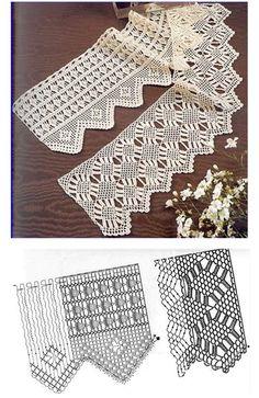 This Pin was discovered by Iri Filet Crochet, Crochet Doily Diagram, Crochet Lace Edging, Crochet Borders, Thread Crochet, Irish Crochet, Crochet Stitches, Crochet Patterns, Crochet Vintage