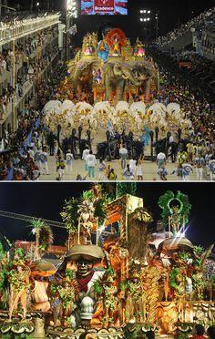 Attend Carnival in Brazil: Source: Celso Pupo / Shutterstock.com, Leanne Vorrias / Shutterstock.com