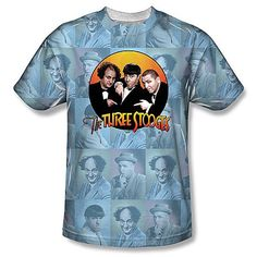 Three Stooges Multi Images on 100% Polyester #TShirt Dye sublimat | Dye sublimation t shirts http://lollipoptshirts.com/products/copy-of-three-stooges-tuxedo-image-on-100-polyester-t-shirt-dye-sublimation