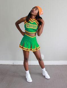 Custom made East Compton clovers cheerleading uniform from Cheer Co.
