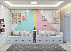 Small Room Design Bedroom, Kids Bedroom, Design Your Home, House Design, House Beds, New Room, Room Decor, Triplets Bedroom, Shared Kids Rooms