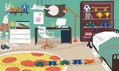 Boys room, illustration by Lindsey Balbierz