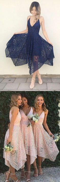 bridesmaid dresses, simple lace bridesmaid dresses, 2017 chic boho style wedding party